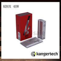 Wholesale E Cigarette Battery Steel - Kanger Kbox 40W Mod Kangertech Kbox E-cigarette Mods 18650 Batteries Fit For Subtank V2 Atlantis Black Stainless Steel 100% Original