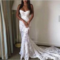 Wholesale Gold Grown Dress - Vintage Court Style Long Mermaid Lace Bridal Grown Wedding Dresses Simple Cheap Lace Applique Formal Party Grown