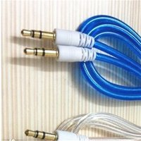 Wholesale Double Layer Cable - 1M Double Layer 3.5mm Male to Male Stereo Aux car Audio Cable for iPhone iPod MP3 samsung