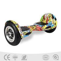 scooter électrique à deux roues achat en gros de-Patin électrique jumeau de roue de 10 pouces, patin à deux roues, deux balancier, panneau futé, équilibre intelligent roue, Smart Scooter