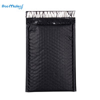 Wholesale Courier Bags - Wholesale- 50pcs 8.5x11inch 235*280mm Poly Bubble Mailing Mailer Shipping Padded Envelope Bags Black Color Shockproof Courier Bubble mailer
