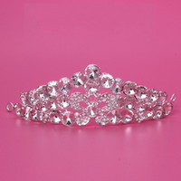 Wholesale Dazzling Crown Princess Tiara - 2016 Dazzling Crown Homecoming Party Prom Wedding Bridal Accessories Hot Sale Girls Pageant Headband Hair Flower Princess Tiaras 2015