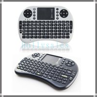 Wholesale Htpc Keyboard Mouse - Mini i8 Air Mouse Mini Wireless Keyboard with backlight Keyboard Mouse Touchpad for PC Notebook Android TV Box HTPC