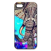 Wholesale Multi Case Iphone 4s - Wholesale New Multi-Color Animal Elephant Hard Plastic Mobile Phone Shell Case Cover For Iphone 4 4S 5 5S 5C 6