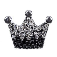 NSB2210 Fashion Crystal Crown Snap Boutons Hot Sale Snap buttons Bijoux Bricolage Charms Crystal Snaps Boutons en métal Bijoux de fête