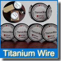 alambre de titanio vaporizador al por mayor-Control de temperatura del cable de titanio mod TA1 Cable de titanio 26g 28g 30g Vapor Tech Cable de resistencia de titanio de 30 pies Cable de resistencia Nuevo vaporizador