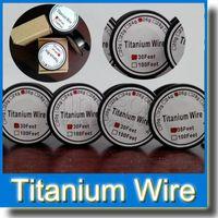 титановая проволока ta1 оптовых-Титановая проволока контроль температуры mod TA1 Титановая проволока 26 г 28 г 30 г пара Tech 30 футов Титана проволка быстрого кипячения сопротивление провода новый испаритель