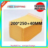 20pcs, gadget acolchoado Kraft Bubble Envelope Express Frágil Item Pequeno gadgets Mailer Mailing Package Bags Venda por atacado 140 * 160 + 40mm 250 * 350mm