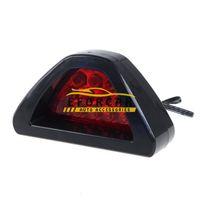 Wholesale 12v dc strobe lights resale online - 12 LED Red flashing tail brake light bulbs Lamp car Reverse light strobe Flash emergency warning lights DC V