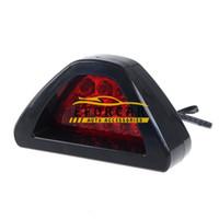 lâmpada traseira venda por atacado-12 LED Vermelho piscando farol de freio de cauda lâmpadas de luz do flash Do Carro estroboscópica luz de advertência de emergência DC 12 V