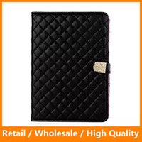 Smart Cover Diamond Leather Lady Stand Holder para Apple iPad 1234 Fashion Soft Nice Hand Feeling