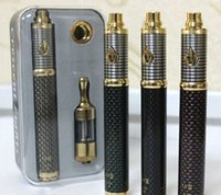 Wholesale E Cigs Variable Voltage - Vision Spinner 3 III kit 1600mAh Carbon battery e cigs cigarettes MOD kit variable voltage 3.3v-4.8v protank 2 atomizer vapors
