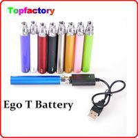 Wholesale Colorful Protank - Colorful Ego T battery 650mah 900mah 1100mah electronic cigarette battery e cigarette for protank aspire ego atomizer Free shipment