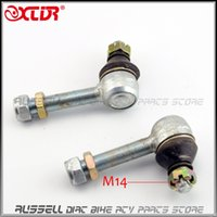 Wholesale Wholesale Rod Ends - Wholesale- Upper Arm Tie Rod End 14mm & 16mm For Hummer JIANSHE LONGDING 125 150 200 250 ATV UTV Accessories Turn joint ball Spare Parts