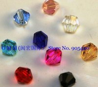 Wholesale Crystal Cube Beads 6mm - OMH wholesale 50pcs Mixed 3MM 4MM 6MM 8MM choose Fashion accessories spacer beads bicone glass crystal beads sj01
