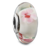 8094dfeab Cheap Cherry Blossom Murano Glass 100% 925 Sterling Silver Beads Fit Pandora  Charms Bracelet Authentic
