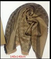 ingrosso sciarpe in chiffon di seta-2019 scialle arcobaleno prezzo di fabbrica classico cotone scialle di pashmina sciarpa di seta sciarpa di seta di metallo stampa sciarpa avvolge 140x140 cmNUOVO
