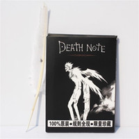 Wholesale notebook wood for sale - Group buy New Death Note Cosplay Notebook Feather Pen Book Anime Writing Journal