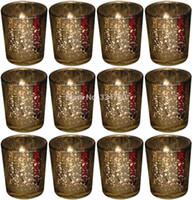 Wholesale Tall Candlesticks Wholesale - 2.5 Inch Tall Mercury Wedding Glass Votive Holder.Gold,Set of 12.USD34.20  Each USD2.85