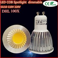 Ventas al por mayor de China super brillante GU10 bombillas regulables Led / blanco 85-265V 9W 12W 15W LED GU10 LED COB caliente luz de la lámpara llevó el proyector de DHL