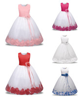 Wholesale Childrens Special Occasion Clothing - 2018 Baby Childrens Ball Gown Wedding Dresses for Girls Clothing Toddler Big Kids Princess Kids Formal Wear Dress Special Occasion Dresses