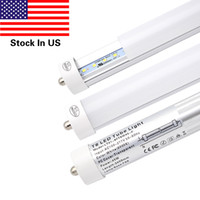 25 Pack Single Pin FA8 Base 8FT LED Light Tube lamp Trabalhar sem lastro Cubo de vidro fosco 45W, potência de dupla ponta, Cold White 6000K