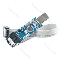 Wholesale Atmel Atmega - C18 Free Shipping 1pc USB ISP Programmer For ATMEL AVR ATMega ATTiny 51 Development Board