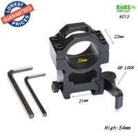 Wholesale Qd Flashlight Mount - AloneFire KC13 25.4mm QD Scope Flashlight Outdoor Hunting High Quality Metal Ring Mount 21mm 20mm Rail