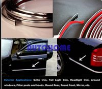 Wholesale 1 X M Chrome Moulding Trim Strip Car Interior Exterior Grill Door Window Decorated DIY order lt no track
