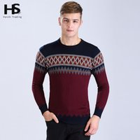 Wholesale Mens Argyle Sweater Xl - Wholesale-2016 New Arrival Fashion Sweater Mens O-Neck Pull Homme Casual Argyle Shirt Dress Wool Cashmere Pullover Men Brand Clothing 6605