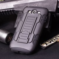 Wholesale Galaxy Grand Duos Wholesale - 100pcs lot Future Armor Impact Defender Holster Belt Clip Protective Hybrid Kickstand Case For Samsung Galaxy Grand Duos i 9080 i9082 Cover