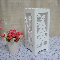 Wholesale Presents Bride - Wholesale 3 style Christmas lamp soft light 12*12*28cm Pure manual carve patterns for Christmas Gift Birthday present decoration bedroom