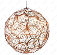Wholesale Tom Dixon Etch - Tom dixon New Modern brass Etch web pendant light Creative Diamond Pendant Lamp