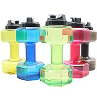 Wholesale Large Plastic Lid - 2.2L Dumbbells Shaped Plastic Big Large Capacity Gym Sports Water Bottle Outdoor Fitness Bicycle Bike Camping Cycling Kettle CCA8213 50pcs