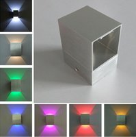 Wholesale frosting decorations - LED Wall Lamps Up and down Square Led Wall Light Decoration Living room Bedroom Ceiling Wall Lamps Indoor Lighting Backlight Corridor Light