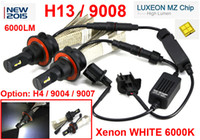 Wholesale H13 Hi Low - 1 Set H13 9008 40W 6000LM CREE LED Headlight Driving Bulb LUXEON MZ 4-CHIP Hi Low Beam Xenon White 6500K 12 24V Mix H4 9004   9007 LED Kit