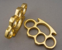Wholesale pcs brass knuckle for sale - one THICK THICK mm BRASS KNUCKLES KNUCKLE DUSTER Gold silver