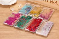 Wholesale Note Case Glitter - Glitter Star Running Quicksand Liquid Dynamic clear Hard Case For iPhone 5s SE 5c 6 6 plus 7 7plus samsung galaxy s5 s6 s7 edge note 3 4 5