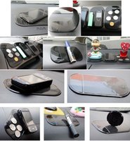 siyah büyü telefonu toptan satış-2017 Siyah Sihirli Sabit Pad Anti Kayma Mat Araba Dashboard Cep Telefonu için Faydalı Ücretsiz Kargo