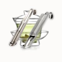 palitos infusores de té al por mayor-Stainer colgante de metal Safe Silver Hoja de té de acero inoxidable Infuser Stick Filter Durable Tés no tóxicos Stainers Popular 6 6rt B