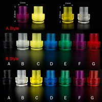 Wholesale Atty Tank - Colorful Transparent Plastic Tobh Atty Drip Tip Chuff Enuff Drip Tips for Atty Tobh Stillare Enigma RDA RBA mechanical mod E Cigarettes tank