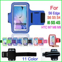 Wholesale Cell Phone Pouch Galaxy 4s - Waterproof Sports Phone Armband Workout Running Case Cycling Arm Holder Pouch For Samsung Galaxy S6 Edge S6 S5 S4 iphone 6 4S 5S cell Phone