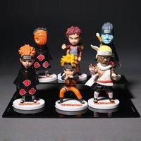 Wholesale Naruto Figure 6pcs - Anime Naruto Uzumaki Naruto Uchiha Obito Nagato Gaara Killer B PVC Figure Toys Collectable Model Figures 6Pcs set Free Shipping