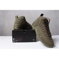 Wholesale High School Shoes - Air 12 Retro X Psny Bordeaux Public School Olive Wheat Purple Green Sneakers 12S Mens Basketball Shoes High Quality Size40-47 With box
