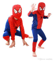Wholesale Party Clothes For Boys - Spiderman Batman Children Party Costumes Halloween Gift For Girls Boys Clothes Children's Set Children's Clothing Set