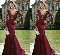 Wholesale Real Picture Zuhair Murad - Zuhair Murad Elegant Evening Dresses With Long Sleeves 2015 Burgundy Mother of the Bride Dresses Beaded Deep V Neck Formal Arabic Dresses