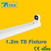 Wholesale Led Tube Lights Holder - 1.2m T8 Fixture 4FT LED tube light Stand high quality support 1.2 meters bracket 1200mm stent lamp holder G13 Lamp Bases