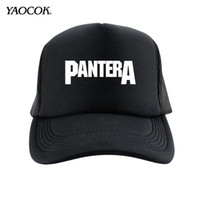 Visor Others Others Wholesale-New 2015 Winter Active Novelty Cotton Knit Printed Pantera Punk Rock Band Cool Mens Sun Hats And Snapback Caps Sport Summer