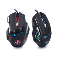 Wholesale x7 gaming mouse - Wholesale- NEW Wired Gaming Mouse Mice 7 Buttons Optical Computer Mouse E-Sports USB Mouse For Computer Laptop Raton Ordenador X7