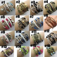 Wholesale Jewelry For Black People - Infinity bracelets HI-Q Jewelry fashion Mixed Lots Charm Bracelets Silver lots Style pick for fashion people best loves Jewelry E25J